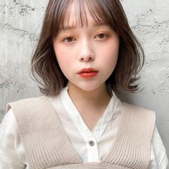ボブ 韓国ヘア パーティ アウトドア ヘアスタイルや髪型の写真・画像