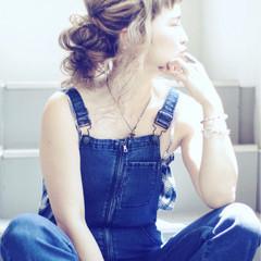 大人女子 ギブソンタック 抜け感 ヘアアレンジ ヘアスタイルや髪型の写真・画像
