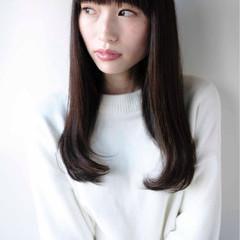 ニュアンス 黒髪 ナチュラル 小顔 ヘアスタイルや髪型の写真・画像