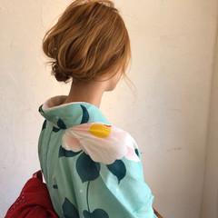 上品 ボブ 涼しげ ヘアアレンジ ヘアスタイルや髪型の写真・画像