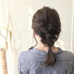 ヘアアレンジ セミロング 暗髪 ヘアスタイルや髪型の写真・画像