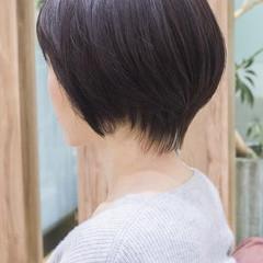 ショートボブ 大人かわいい ショート ハンサムショート ヘアスタイルや髪型の写真・画像