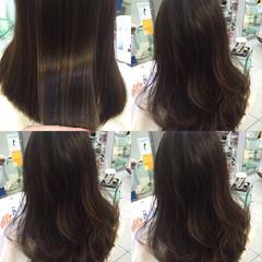 コンサバ アッシュ ハイライト 暗髪 ヘアスタイルや髪型の写真・画像