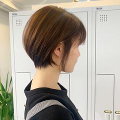 ショートヘア ストリート 小顔ショート ミニボブ ヘアスタイルや髪型の写真・画像