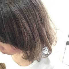 アッシュベージュ ボブ グレージュ アッシュグラデーション ヘアスタイルや髪型の写真・画像