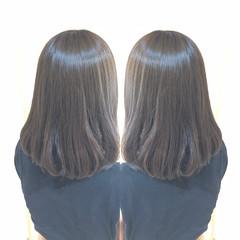 ミディアム 髪質改善トリートメント アディクシーカラー ナチュラル ヘアスタイルや髪型の写真・画像