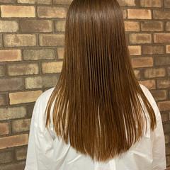 イルミナカラー 縮毛矯正 ナチュラル ストレート ヘアスタイルや髪型の写真・画像