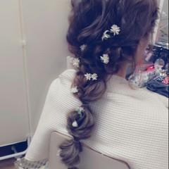 ブライダル 大人かわいい ロング ナチュラル ヘアスタイルや髪型の写真・画像