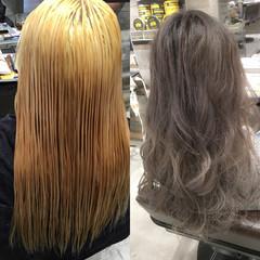 アッシュ 外国人風 グラデーションカラー ストリート ヘアスタイルや髪型の写真・画像