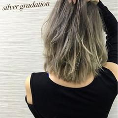 渋谷系 ガーリー ボブ グラデーションカラー ヘアスタイルや髪型の写真・画像