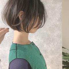 ストレート 縮毛矯正 ボブ フェミニン ヘアスタイルや髪型の写真・画像