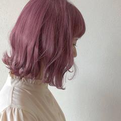 切りっぱなしボブ ボブ ハイトーン フェミニン ヘアスタイルや髪型の写真・画像