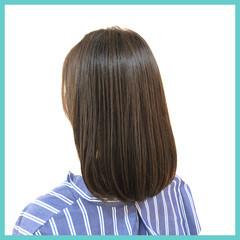 ショコラブラウン ミディアム オーガニックカラー ナチュラル ヘアスタイルや髪型の写真・画像