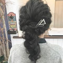 ナチュラル 二次会 ロング ヘアアレンジ ヘアスタイルや髪型の写真・画像