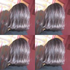 ナチュラル 外ハネ ブリーチ 透明感 ヘアスタイルや髪型の写真・画像