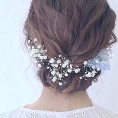 ロング 結婚式 ヘアアレンジ 二次会 ヘアスタイルや髪型の写真・画像