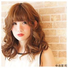 レイヤーカット モテ髪 ミディアム パーマ ヘアスタイルや髪型の写真・画像