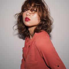 ミディアム 色気 外国人風 大人かわいい ヘアスタイルや髪型の写真・画像