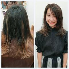グラデーションカラー ハイライト アッシュ ストリート ヘアスタイルや髪型の写真・画像