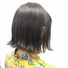 ボブ ストリート グレージュ 外国人風 ヘアスタイルや髪型の写真・画像