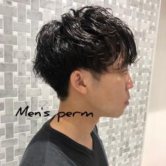 くせ毛風 メンズショート メンズパーマ ショート ヘアスタイルや髪型の写真・画像