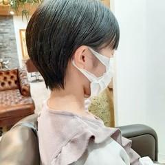 ショートヘア フェミニン ベリーショート ショートボブ ヘアスタイルや髪型の写真・画像