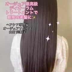 髪質改善 縮毛矯正 トリートメント ストレート ヘアスタイルや髪型の写真・画像
