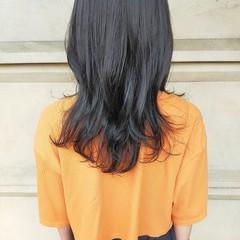 ストリート 韓国ヘア ロング 暗髪女子 ヘアスタイルや髪型の写真・画像