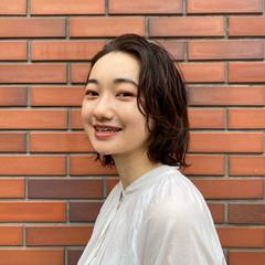 モード パーマ 無造作パーマ ショートヘア ヘアスタイルや髪型の写真・画像