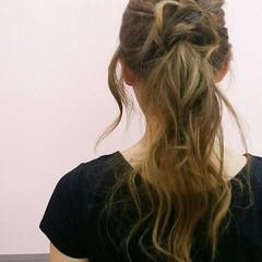 大人かわいい ロング 簡単ヘアアレンジ ヘアアレンジ ヘアスタイルや髪型の写真・画像