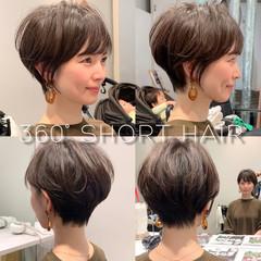 ショートボブ ショート フェミニン 田丸麻紀 ヘアスタイルや髪型の写真・画像