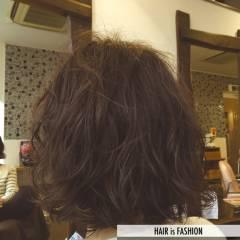 ウェットヘア ボブ ウェーブ パーマ ヘアスタイルや髪型の写真・画像