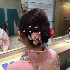 ボブ フェミニン 和装ヘア 和装髪型 ヘアスタイルや髪型の写真・画像