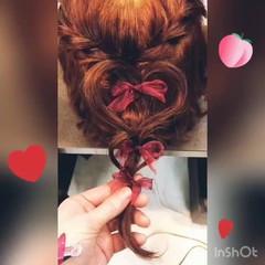 ヘアアレンジ モテボブ デート ガーリー ヘアスタイルや髪型の写真・画像