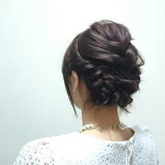 結婚式 ミディアム 簡単ヘアアレンジ ショート ヘアスタイルや髪型の写真・画像