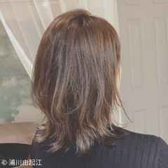 大人かわいい デート ミディアム 暗髪 ヘアスタイルや髪型の写真・画像