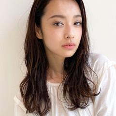 デジタルパーマ モテ髪 ロング ナチュラル ヘアスタイルや髪型の写真・画像