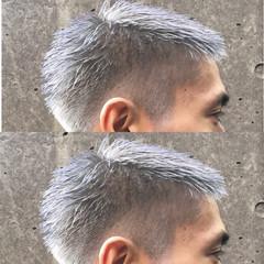 ブリーチ アッシュ ボーイッシュ グレージュ ヘアスタイルや髪型の写真・画像