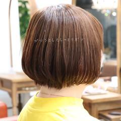 ナチュラル オフィス ボブ パーマ ヘアスタイルや髪型の写真・画像