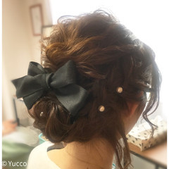 ヘアアレンジ デート ガーリー 結婚式 ヘアスタイルや髪型の写真・画像