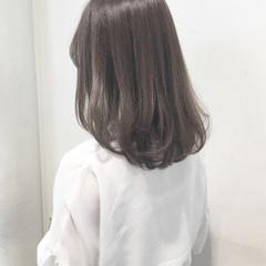 艶髪 セミロング 女子会 ナチュラル ヘアスタイルや髪型の写真・画像