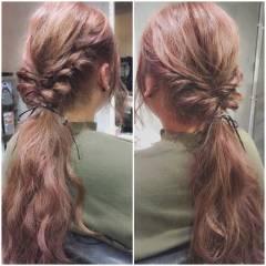 ガーリー ロング ヘアアレンジ 大人かわいい ヘアスタイルや髪型の写真・画像