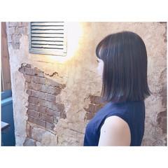 オフィス ナチュラル 外ハネ ボブ ヘアスタイルや髪型の写真・画像