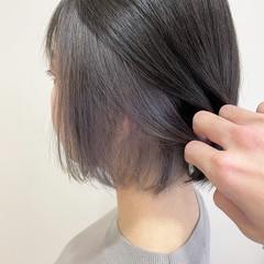 ミルクティーベージュ フェミニン ミニボブ ボブ ヘアスタイルや髪型の写真・画像