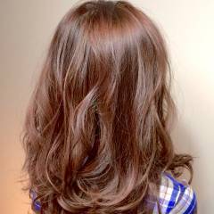 ナチュラル セミロング 秋 ゆるふわ ヘアスタイルや髪型の写真・画像