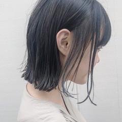切りっぱなし モード ナチュラル ボブ ヘアスタイルや髪型の写真・画像