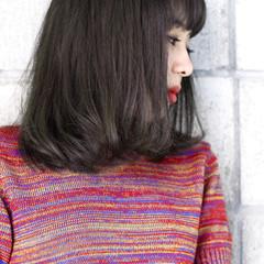 外国人風 ロブ 暗髪 黒髪 ヘアスタイルや髪型の写真・画像