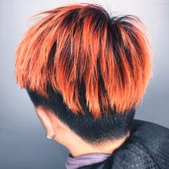 ストリート ショート グラデーションカラー インナーカラー ヘアスタイルや髪型の写真・画像