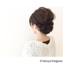 外国人風 花嫁 セミロング 黒髪 ヘアスタイルや髪型の写真・画像