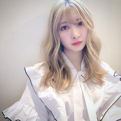 ナチュラル ホワイトブリーチ ブリーチ必須 ブリーチカラー ヘアスタイルや髪型の写真・画像